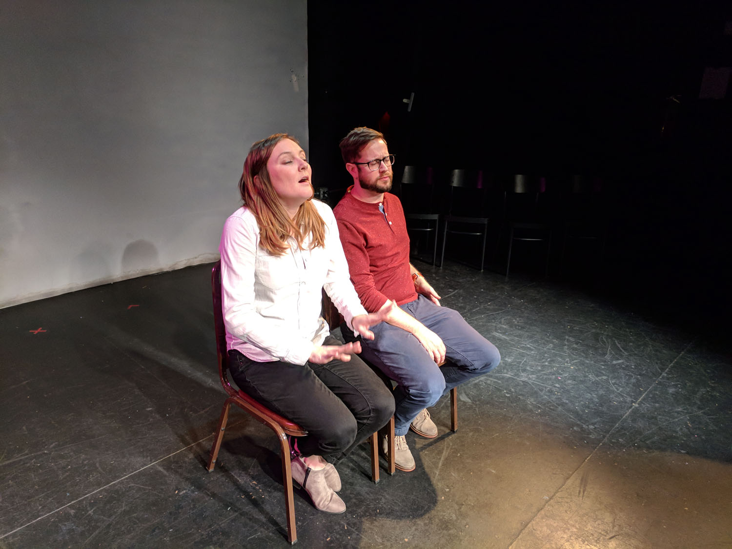 Jennifer Murray and Cole Stratton at PianoFight for SF Sketchfest