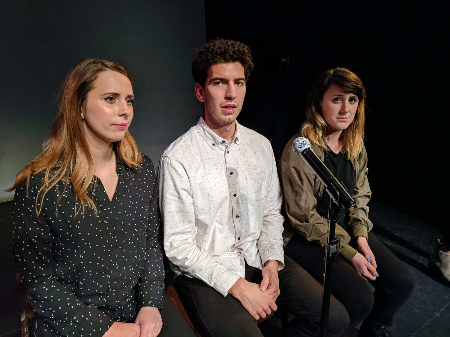 Alonya Eisenberg, Andrew Heder and Alisha Ketry at PianoFight for SF Sketchfest