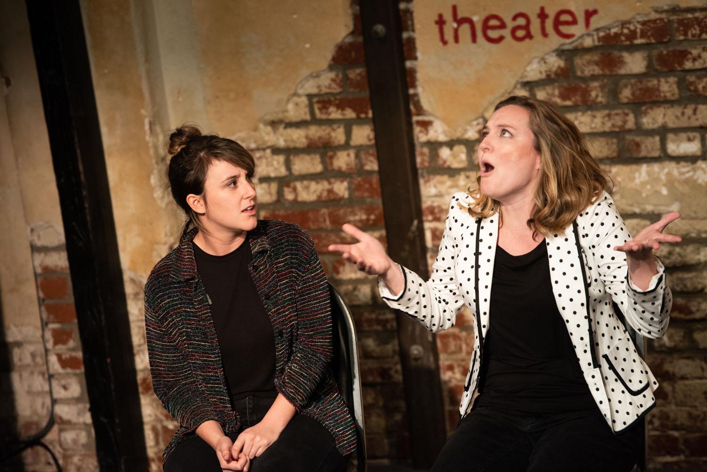 "Jill (Alisha Ketry) and Helen (Jennifer Murray) in ""Who Needs A Man?"""