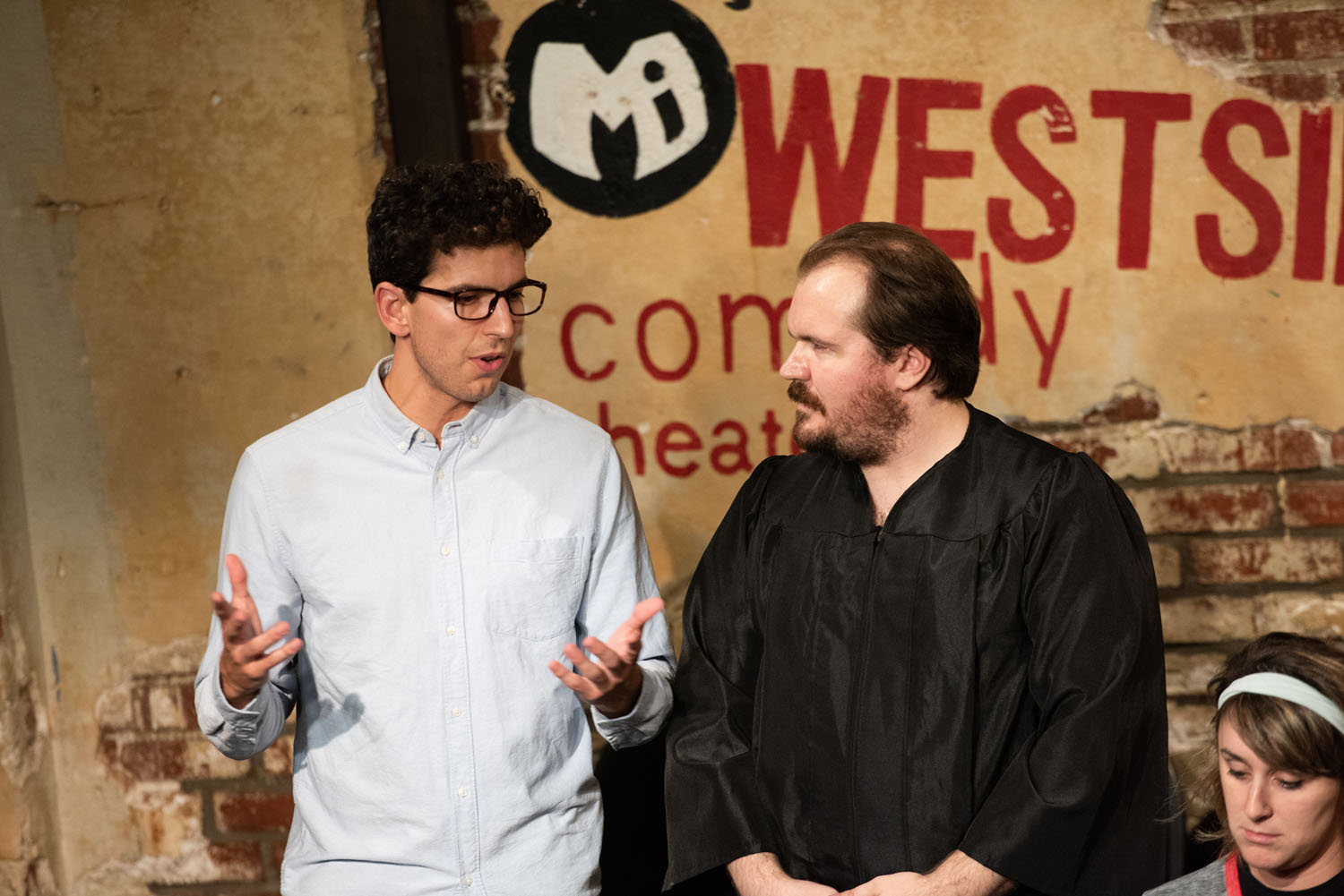 """The Lawyer (Andrew Heder) and The Judge (Max Crandall) in """"Maria and Maria"""""""