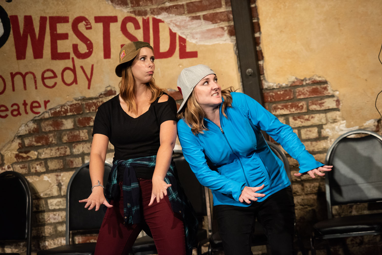 """The Beatboxers (Alonya Eisenberg and Jennifer Murray) do their thing in """"Beatbox"""""""
