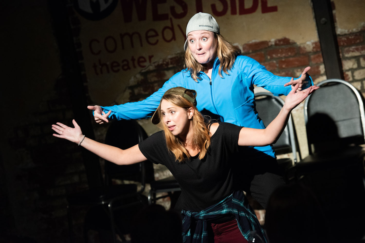 """The Beatboxers (Alonya Eisenberg and Jennifer Murray) demand that you Respect Your Quench in """"Beatbox"""""""