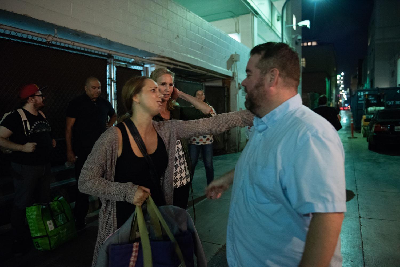 Alonya Eisenberg hugs Nick Armstrong