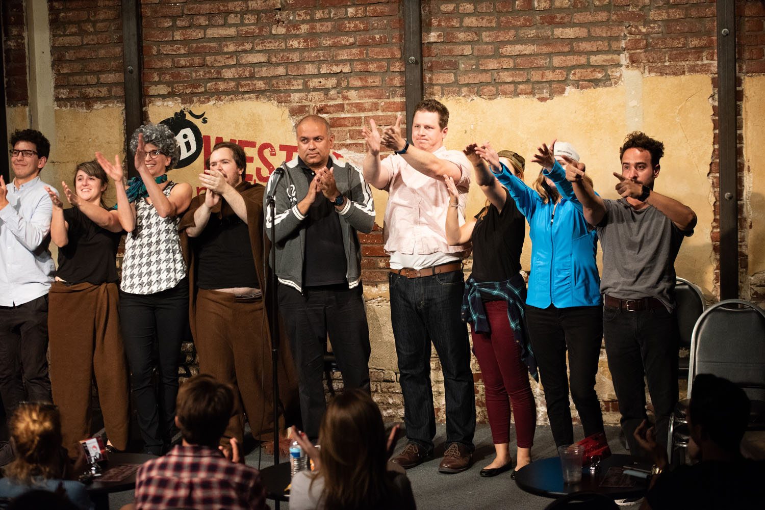 The cast takes a bow
