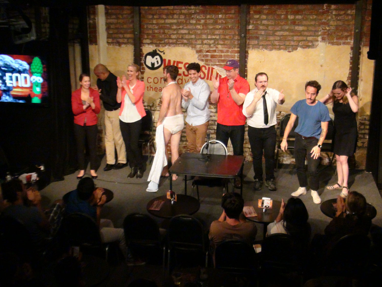 """The cast bows in """"Westside Sketch Co. VS. Science"""""""