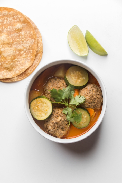 Albondigas (Meatball) Soup with Chipotle