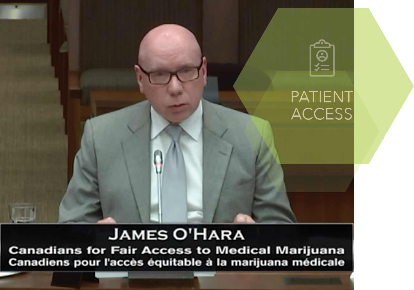 Where does the Cannabis Act leave medical cannabis patients, who depend on affordable access? CFAMM president and CEO James O'Hara, a patient himself, aims to ensure the rights of patients are heard at all government levels.  SUPPLIED
