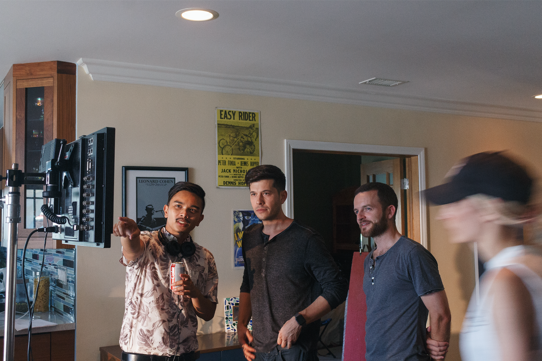 Director Ralph Torrefranca, producer Dylan Costa + AD KJ Downes