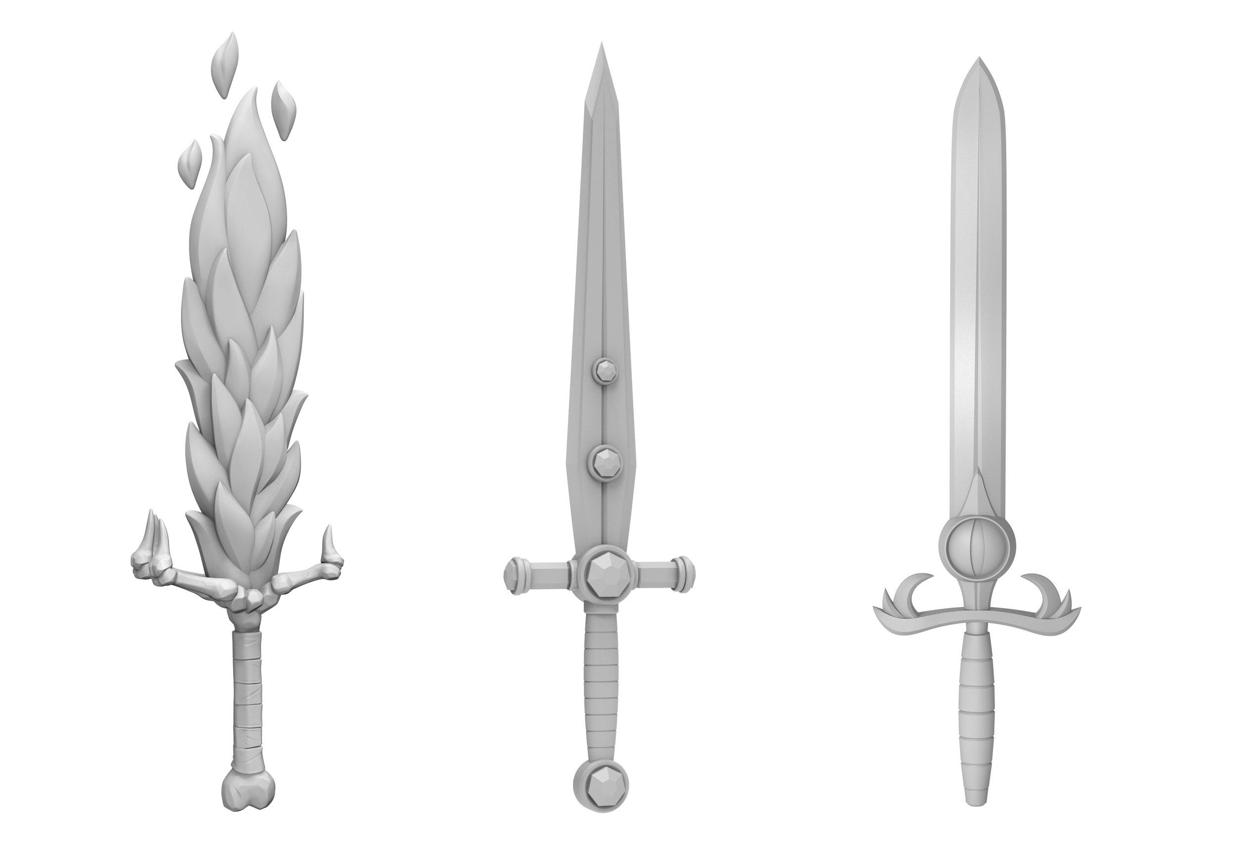 ZBrush Model - ALL SWORDS