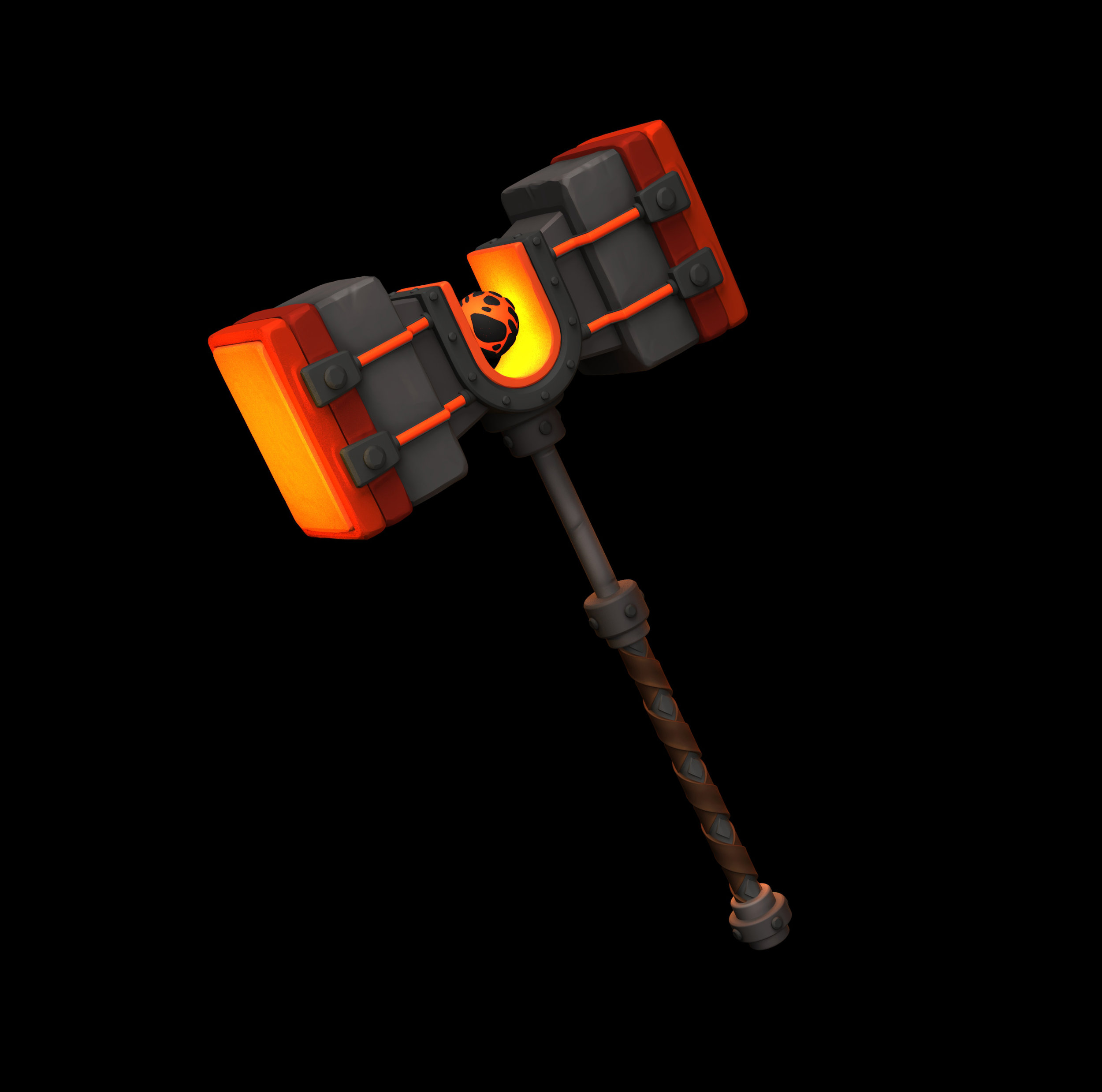 ZBRUSH MODEL - INFERNAL WAR HAMMER
