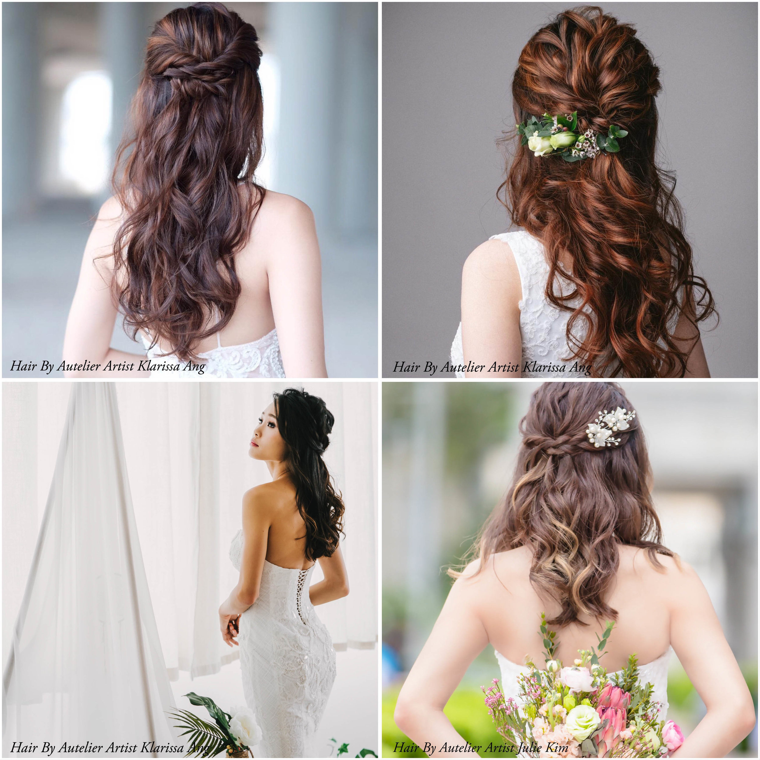 8 Elegant Hairstyles For Every Bride Autelier Makeup Singapore