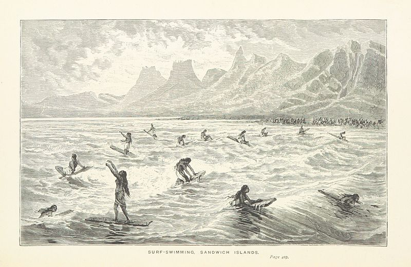 """illustration from """"Captain Cook's Voyages round the World"""" (1897)"""