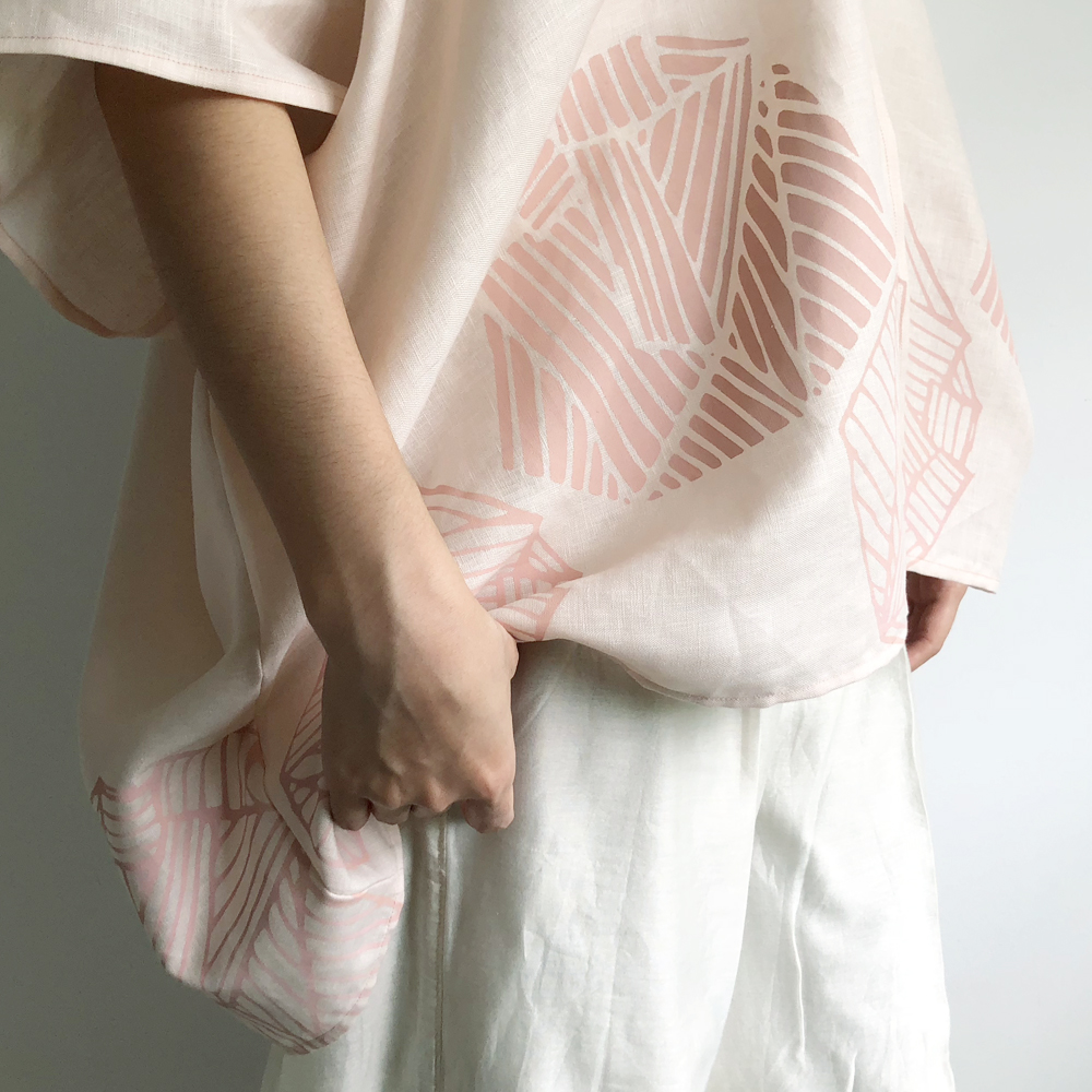Soft Blush Linen Wrap