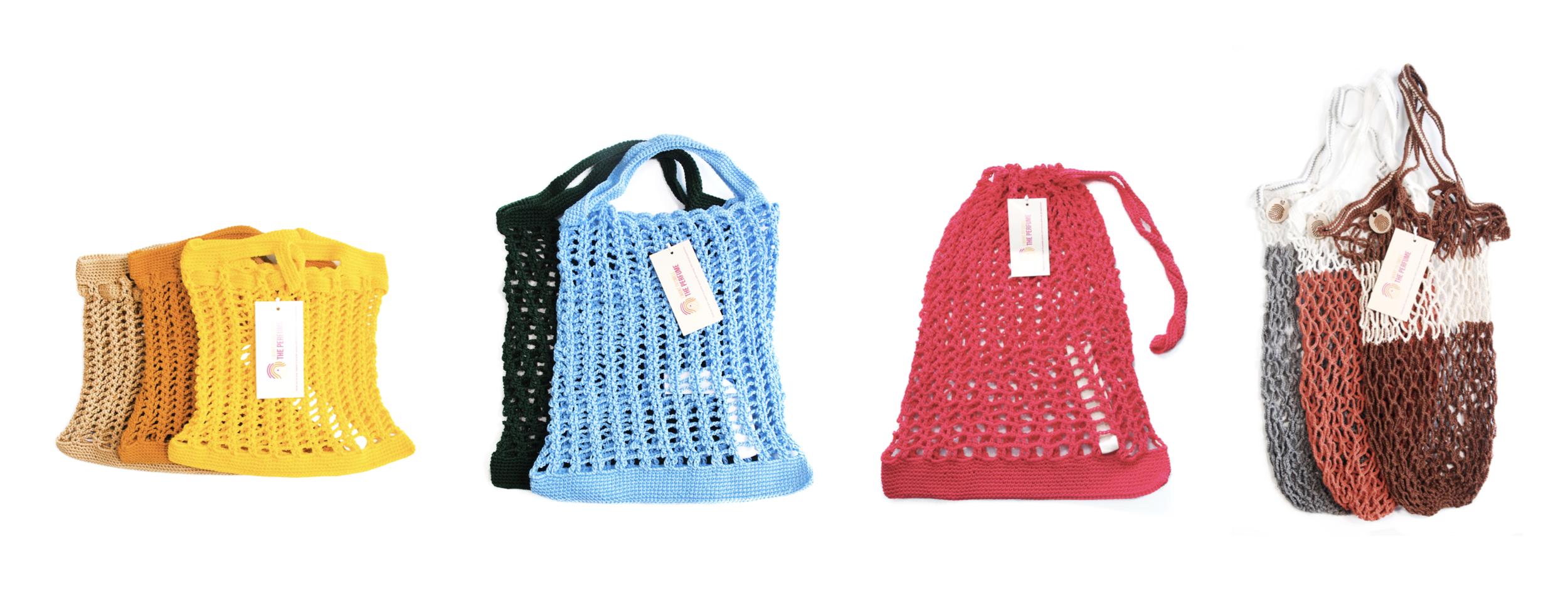 From left to right: M Basket, SB (Shopping Basket), L Basket and Margaret Basket.