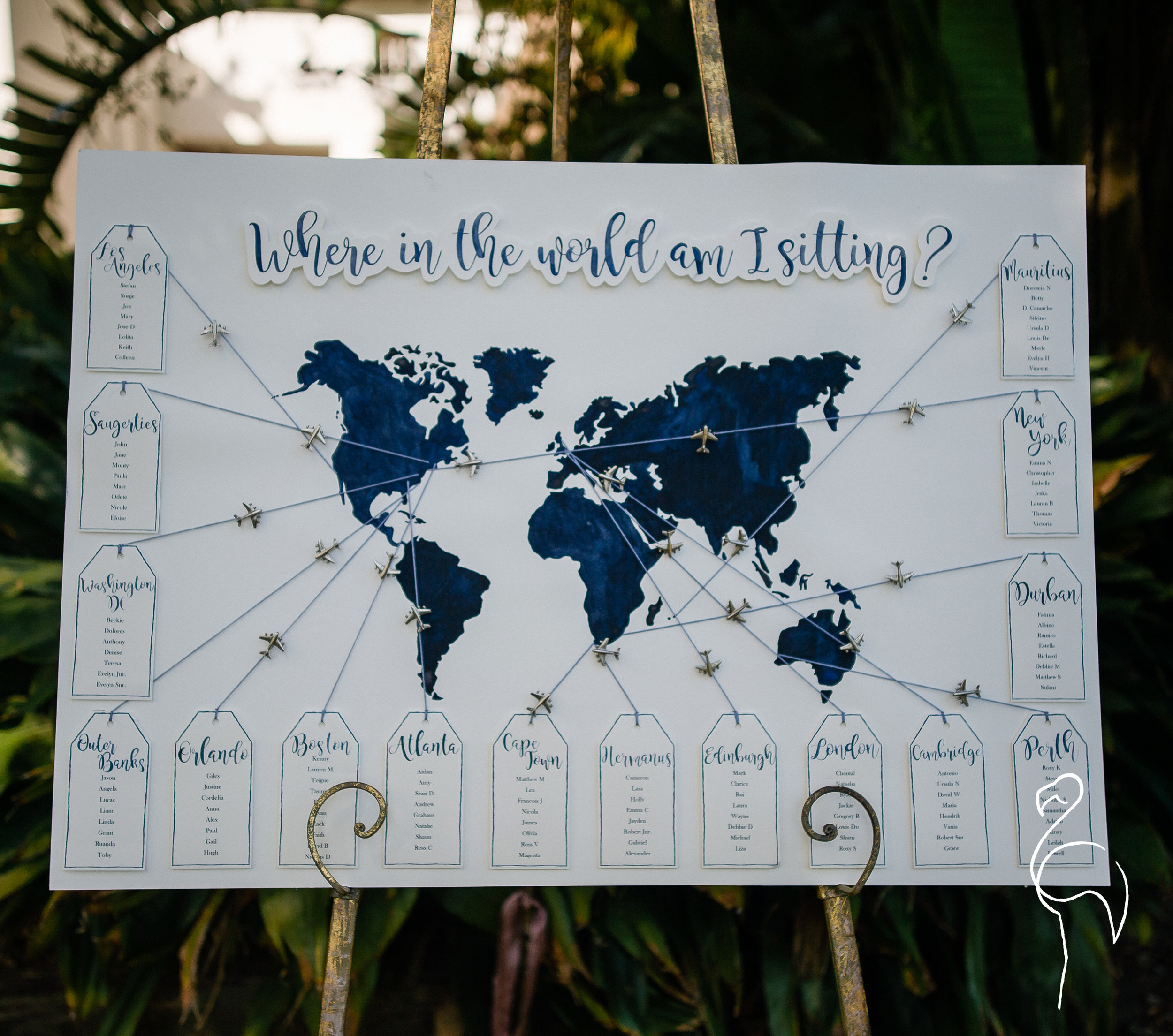 Brazzlebird - Watercolor World Map Seating Chart Travel Themed.jpg