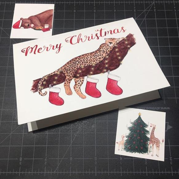 Brazzlebird - Testing Christmas Card Prints