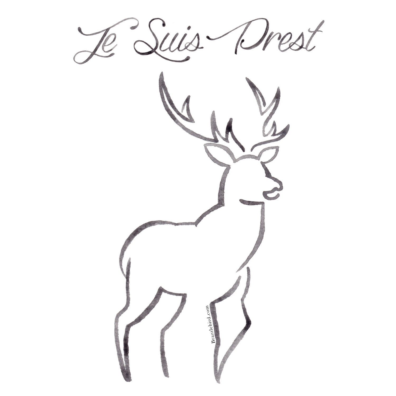 Brazzlebird - Outlander Je Suis Prest Stag Line Painting