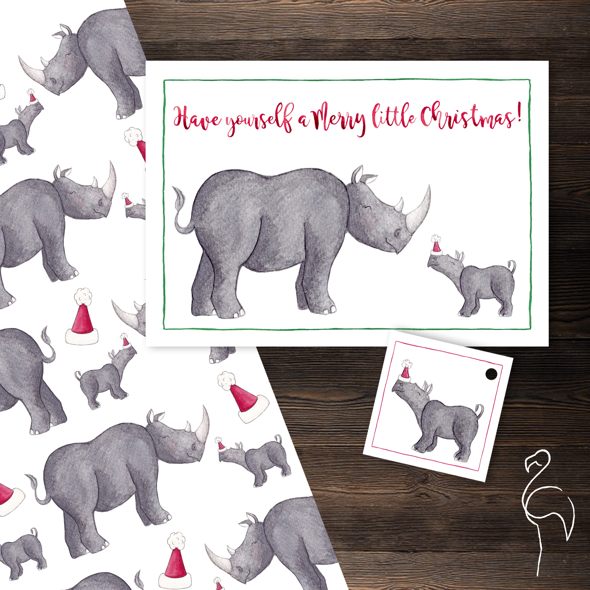 Brazzlebird - Christmas Party Animals Rhino Baby Gifting Suite