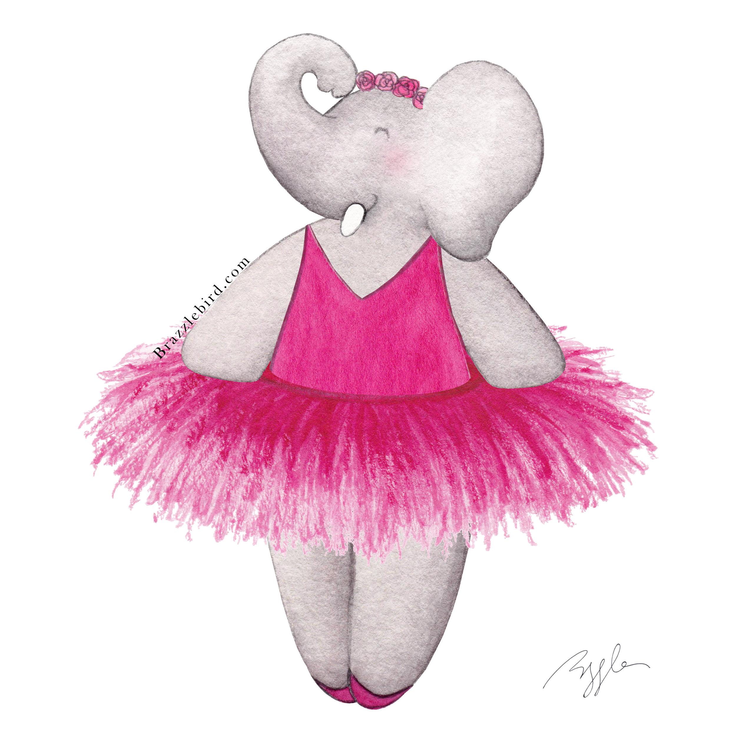 Brazzlebird - Ballerina Elephant Pink Tutu