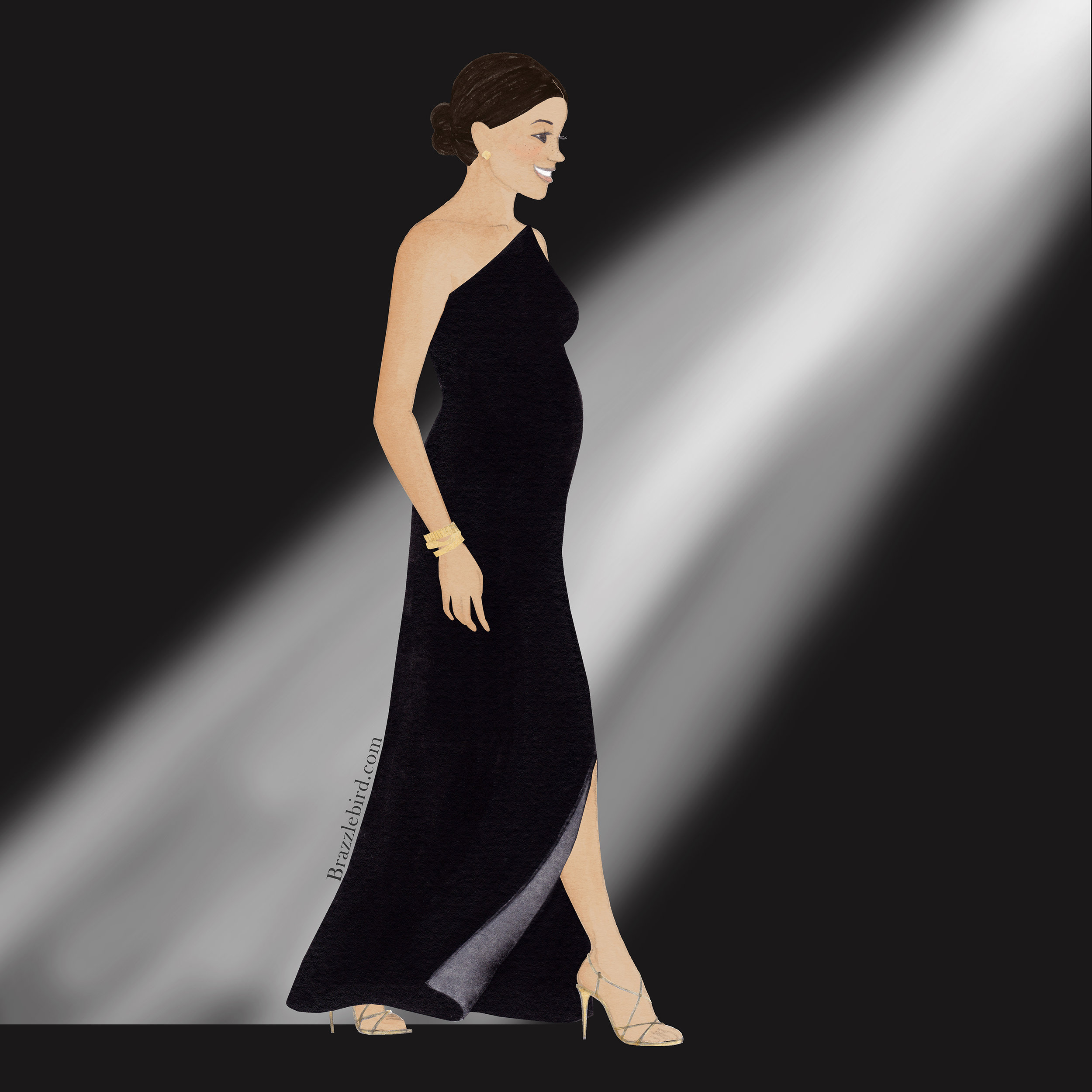 Brazzlebird Meghan Markle British Fashion Awards Givenchy Fashion Illustration