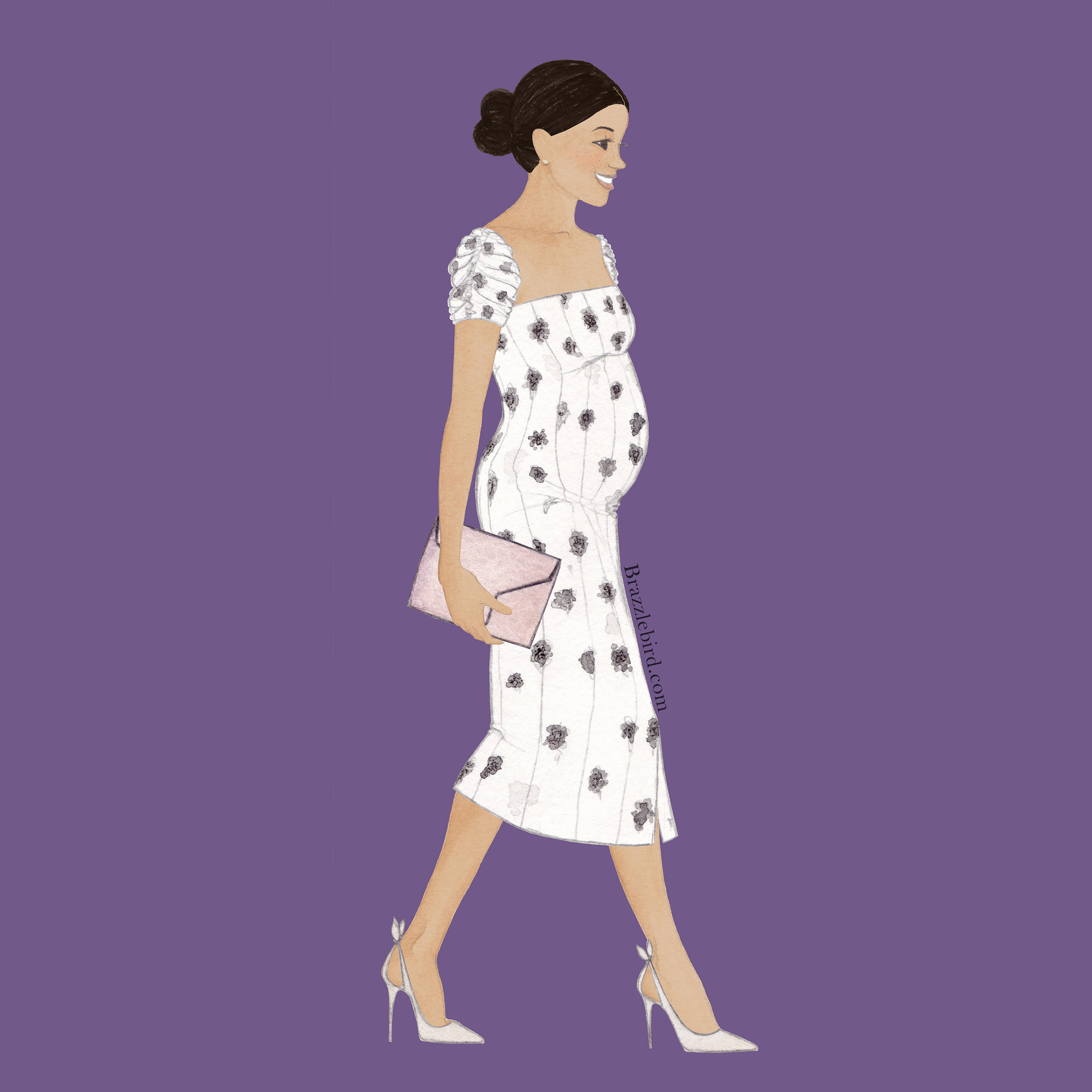 Brazzlebird Meghan Markle Brinsworth House Brock Collection Fashion Illustration