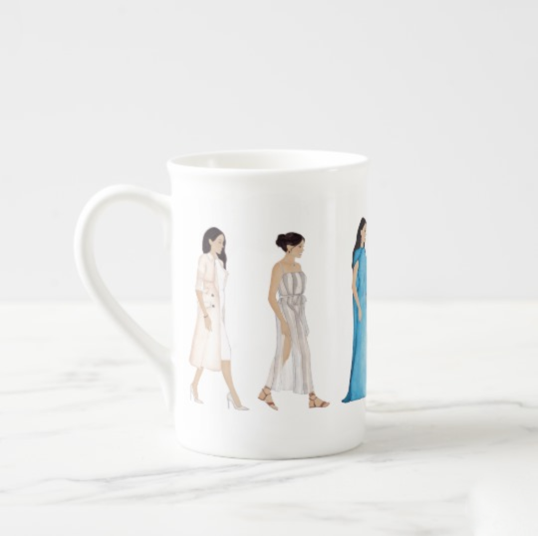 Brazzlebird Duchess Meghan Markle Royal Australia Tour Fashion Mug