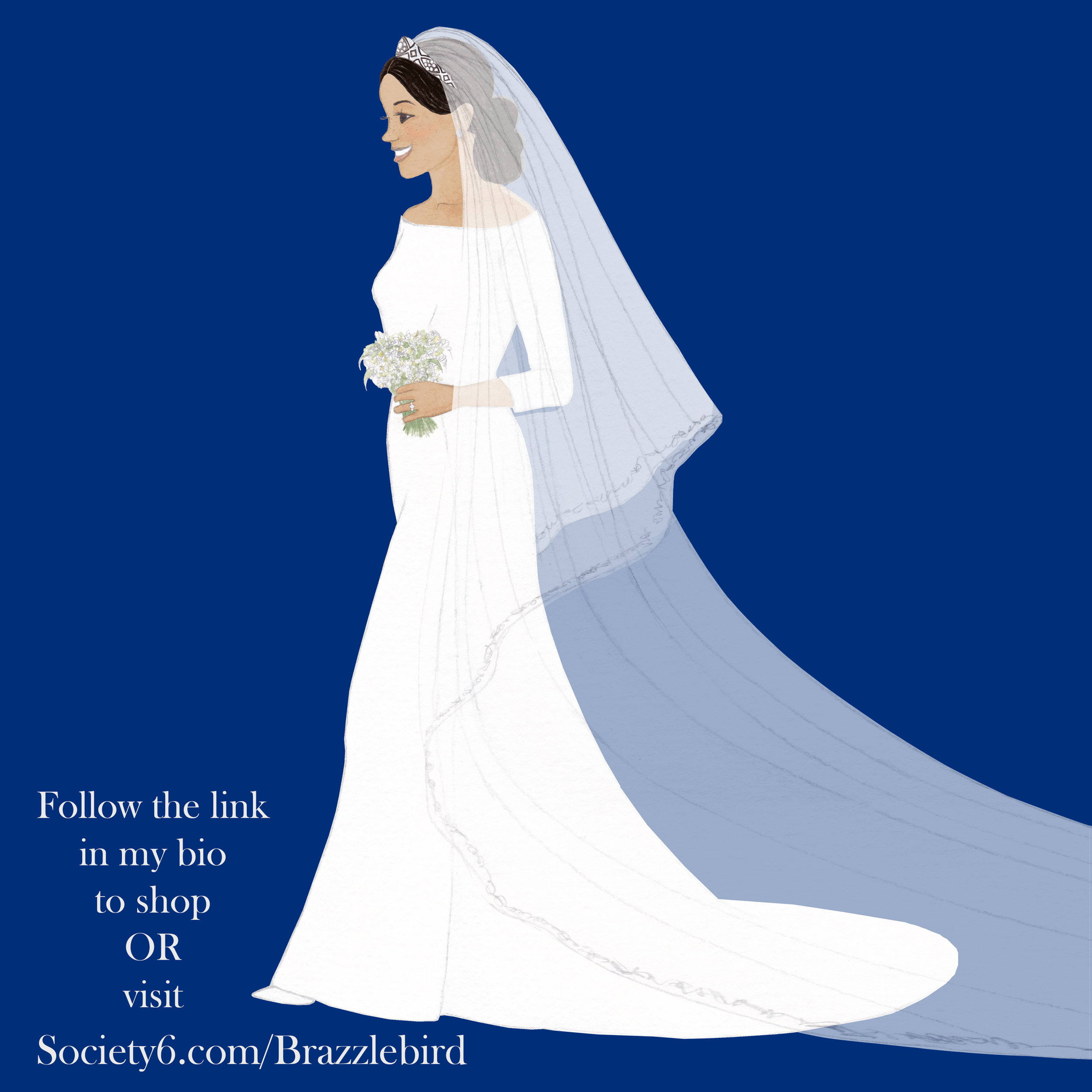 Brazzlebird Meghan Markle Wedding Dress Society6