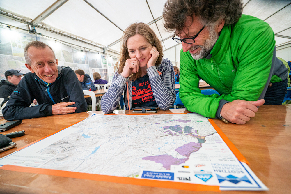 Pouring over the map at the event centre in Attadale Gardens ©Steve Ashworth