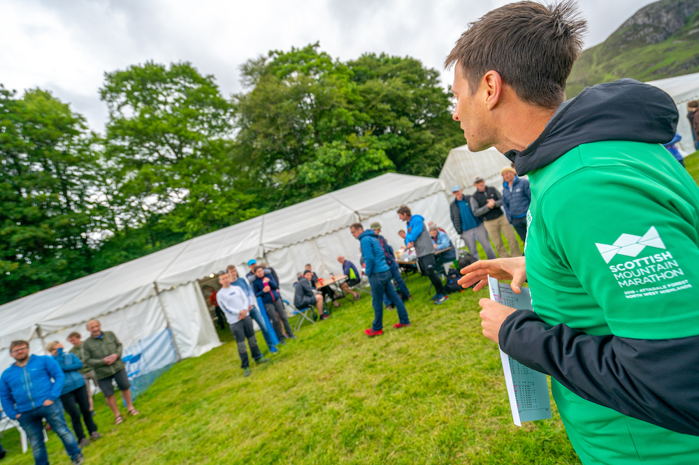 Giving out prizes at the first ever Scottish Mountain Marathon ©Steve Ashworth Media