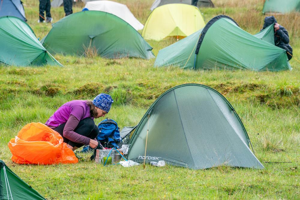 Happy campers at the overnight camp at Bendronaig Lodge ©Steve Ashworth Media