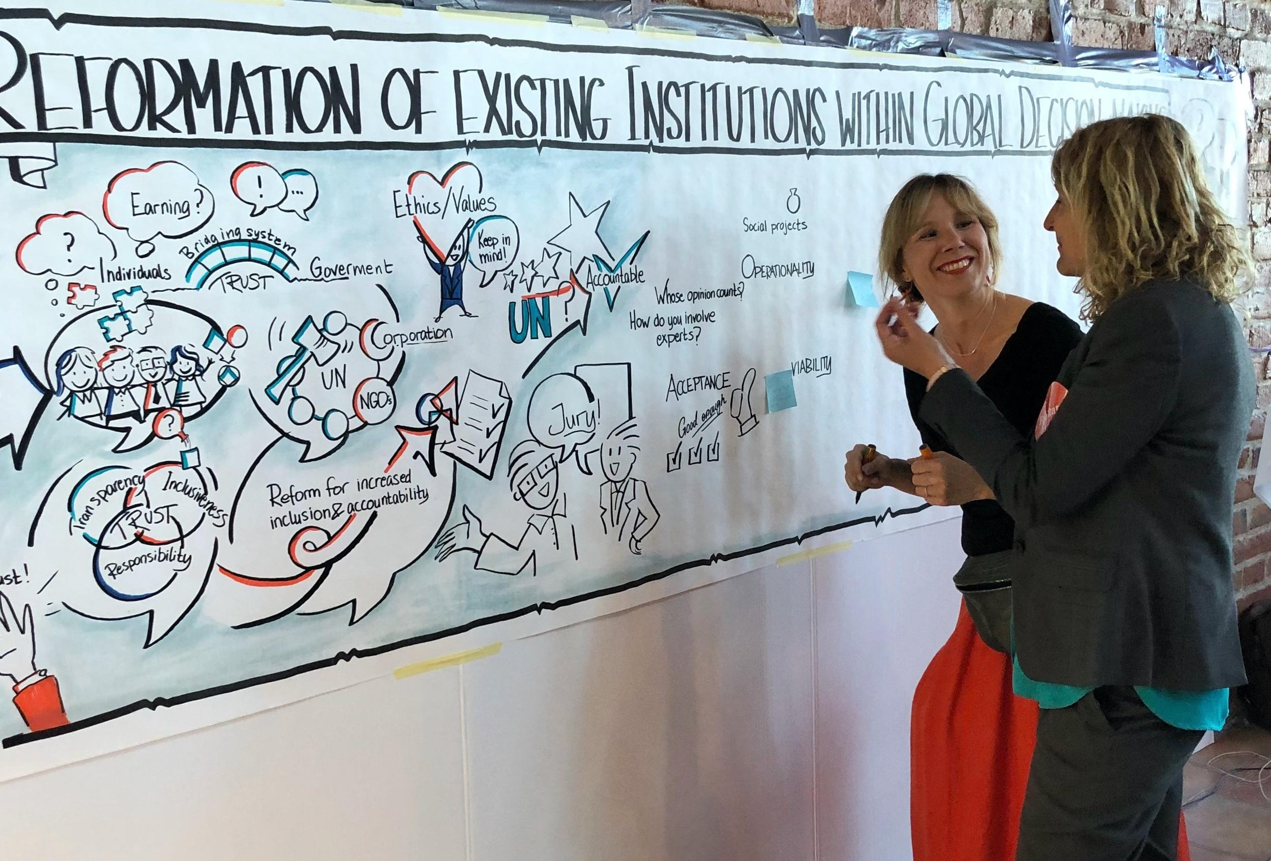 Jag och facilitator Åsa.