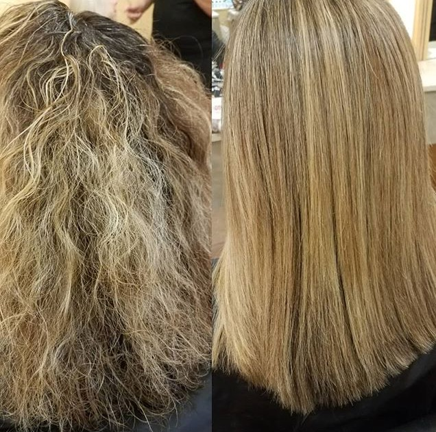Keratin - This client had naturally curly, thick hair that was prone to frizz especially in damp weather. The treatment safely transformed her hair so it was manageable and more professional.