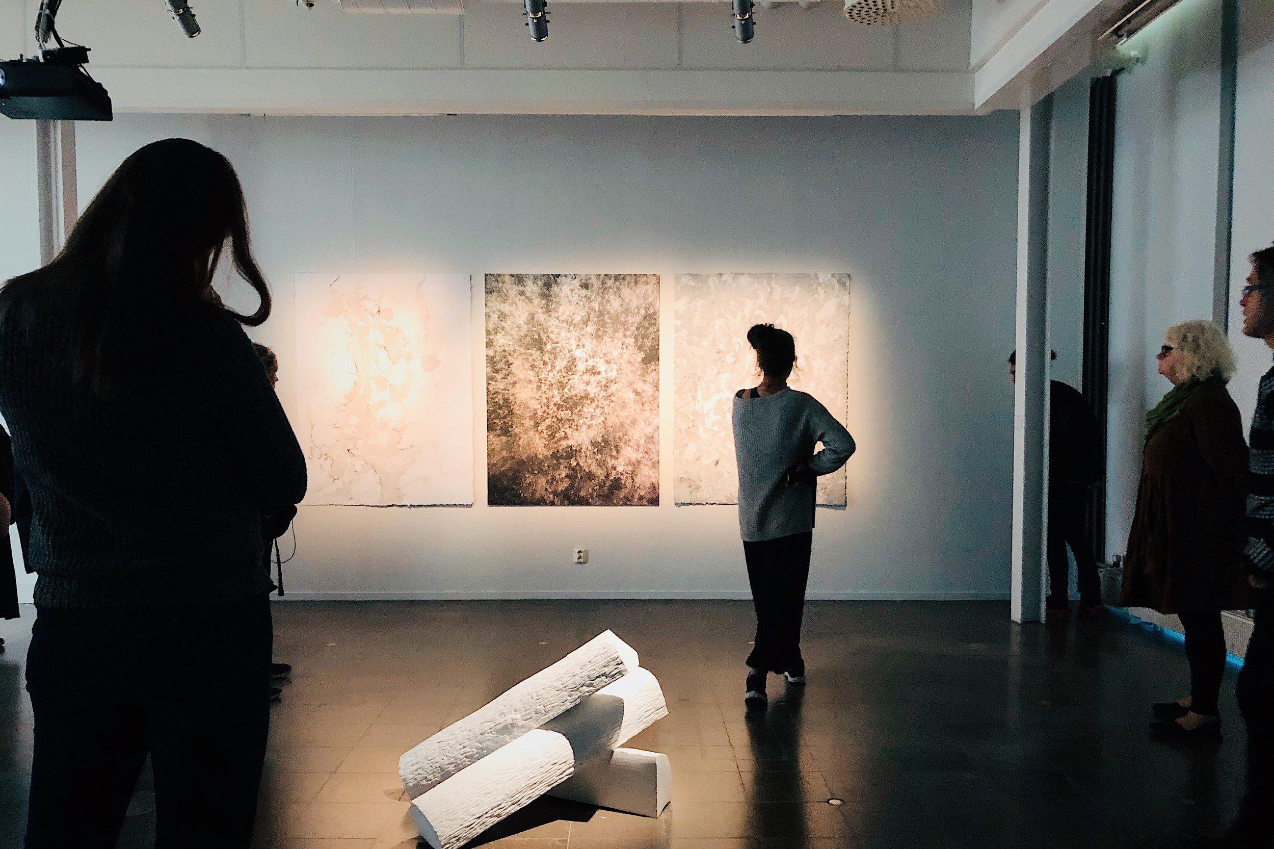 Studiebesök på Gävle Konstcentrum med guidad tur av utställningen   Konsten vi (snart) äger tillsammans  .