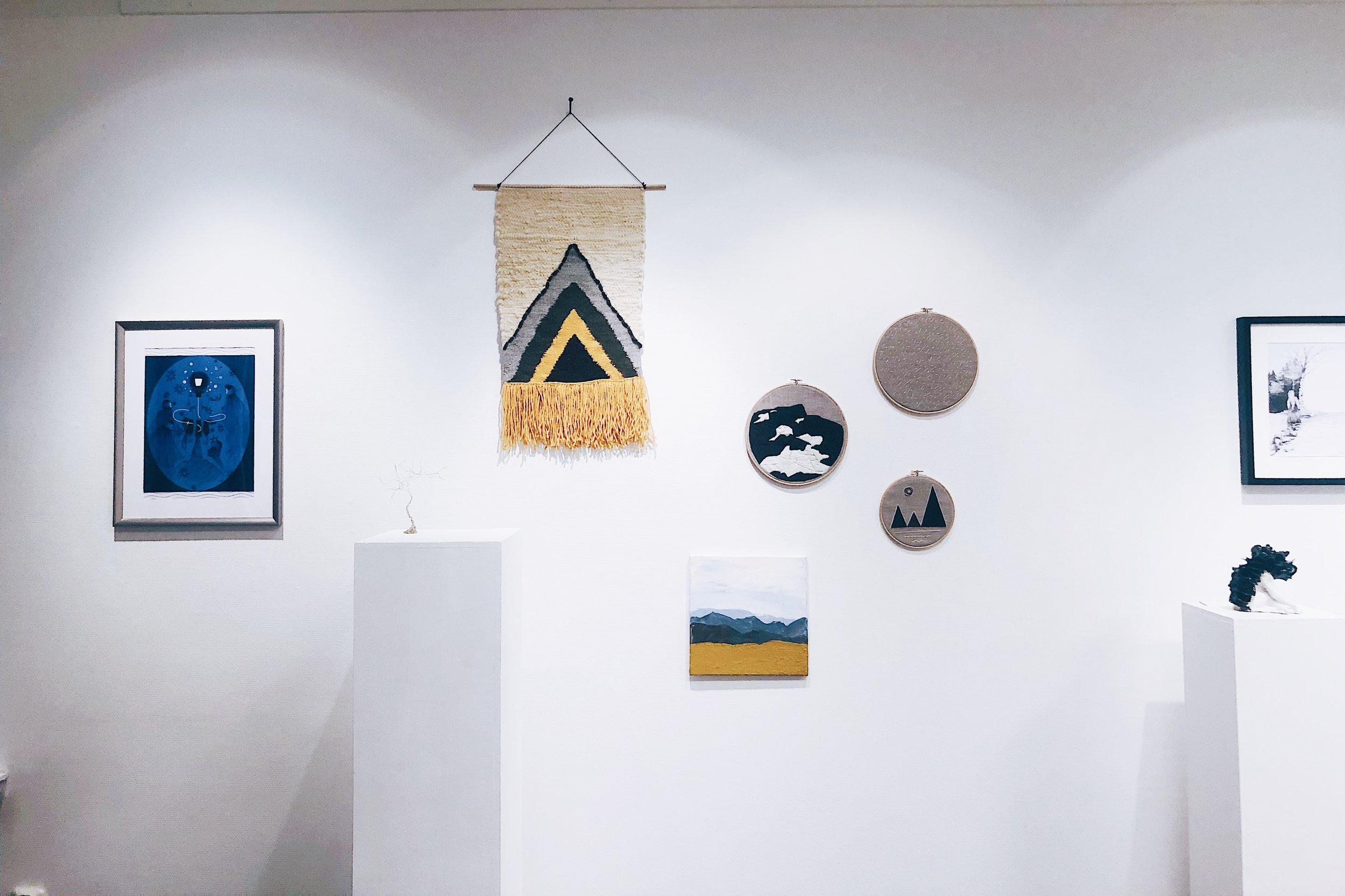 Mina fem bidrag till utställningen.