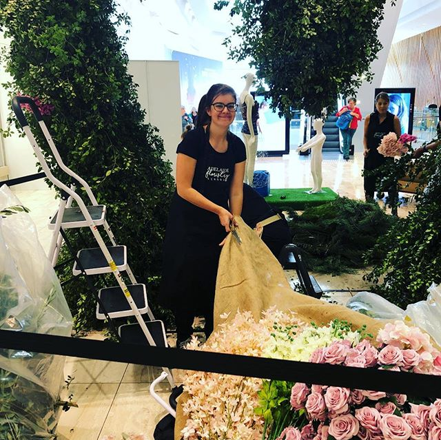 Come and see what our Industry students are installing for Mother's Day at Rundle Plaza #rundleplaza #adelaide #mothersday  @adelaide_floristry_school
