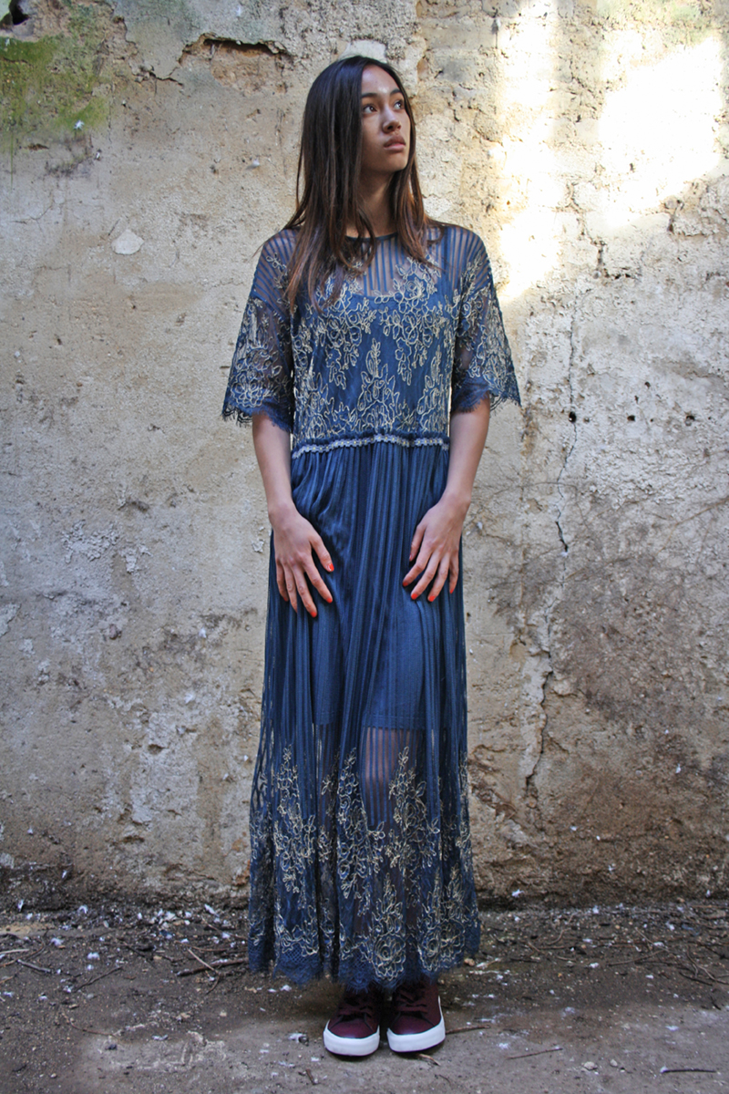 48358  KERVIJA DRESS WITH CAMY DARK HARBOR