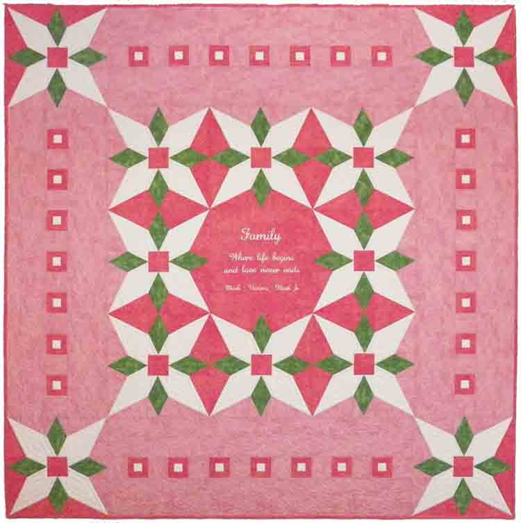 custom floral quilt by Whimzie Quiltz and More
