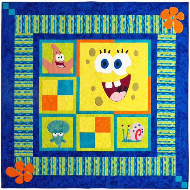 custom Spongebob quilt by Whimzie Quiltz and More