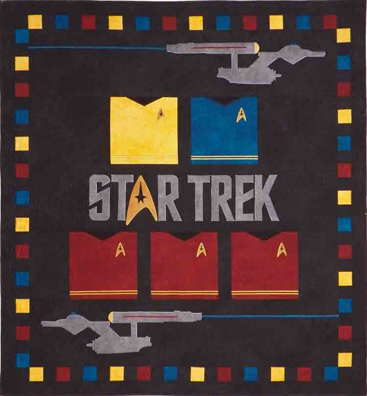 custom Star Trek quilt by Whimzie Quiltz and More