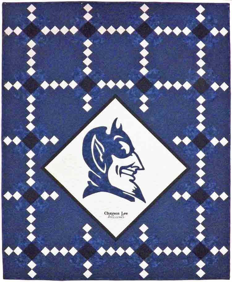 custom Duke University quilt by Whimzie Quiltz and More
