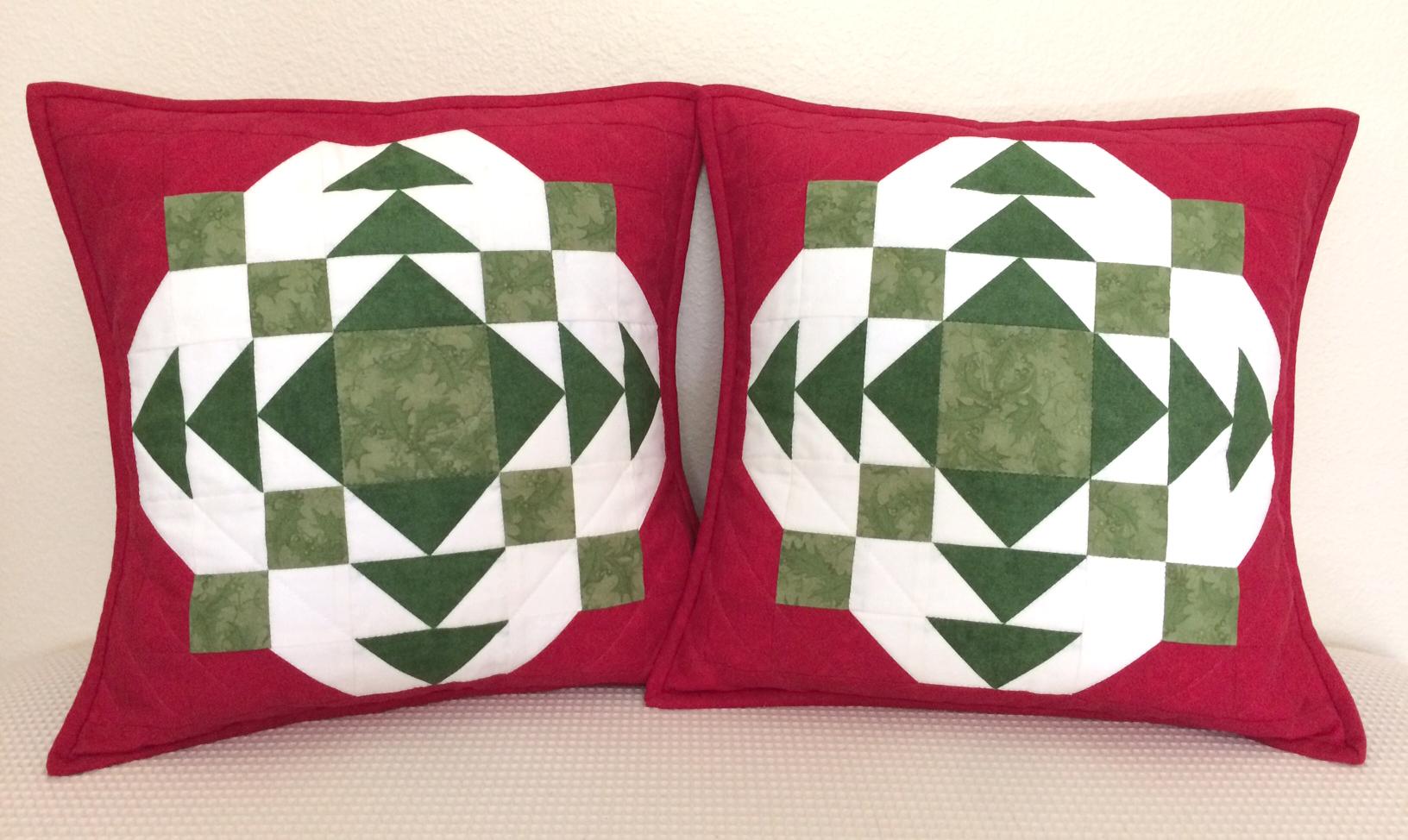 A Quilter's Christmas Carol pillow set