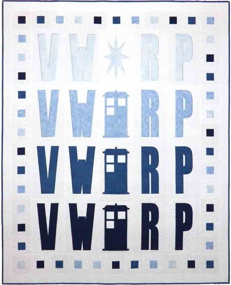 custom Doctor Who Vworp Vworp quilt by Whimzie Quiltz and More