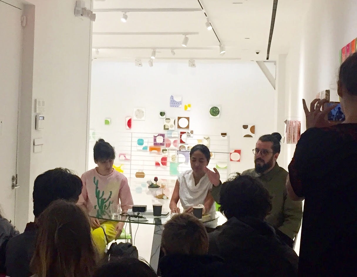 Artist Talk with Bruno Miguel and Carolina Paz mediated by curator Luciana Solano during solo show  Bruno Miguel: Reason and Seduction  at Sapar Contemporary NY
