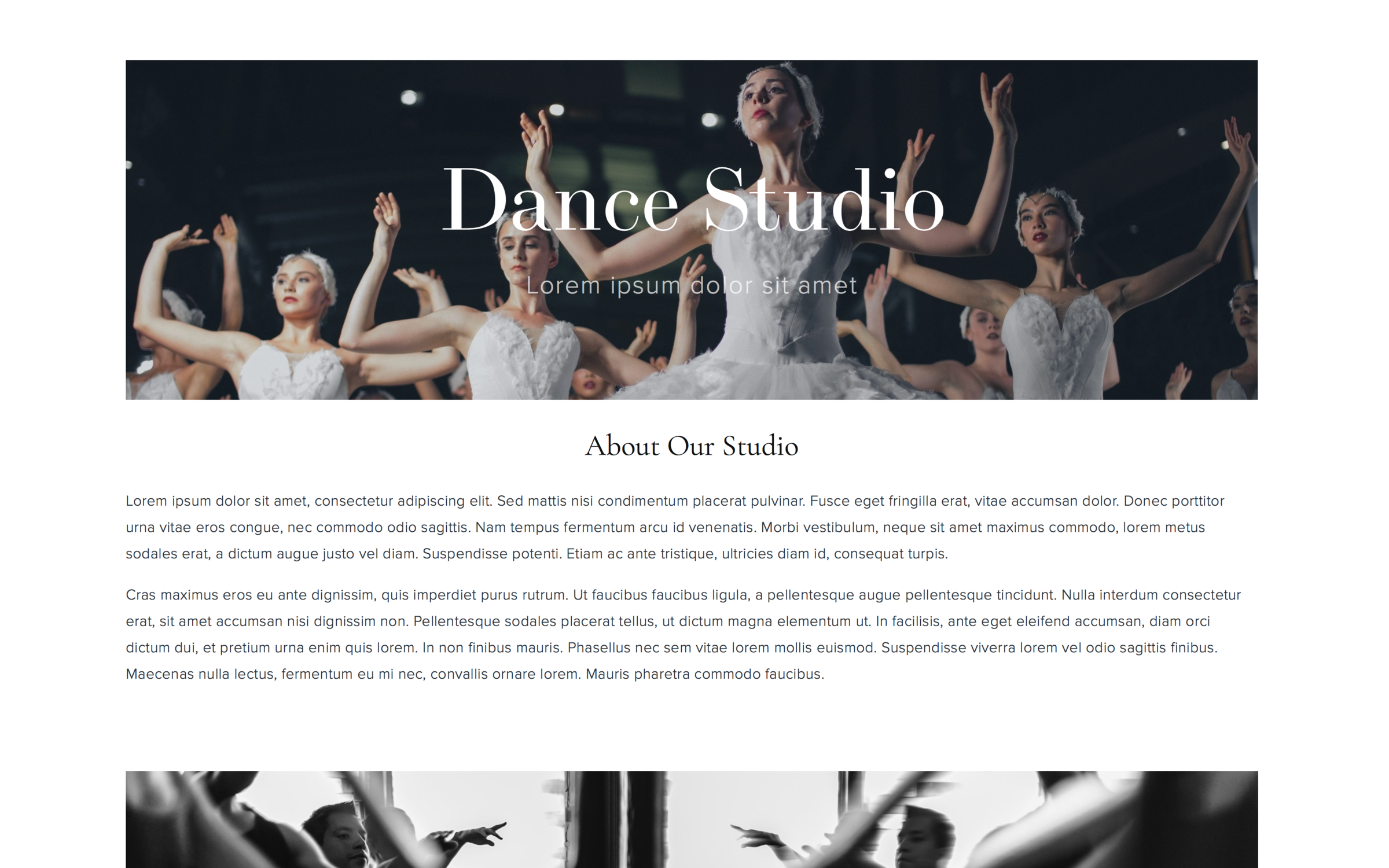 studio homepage design 2 - view demo
