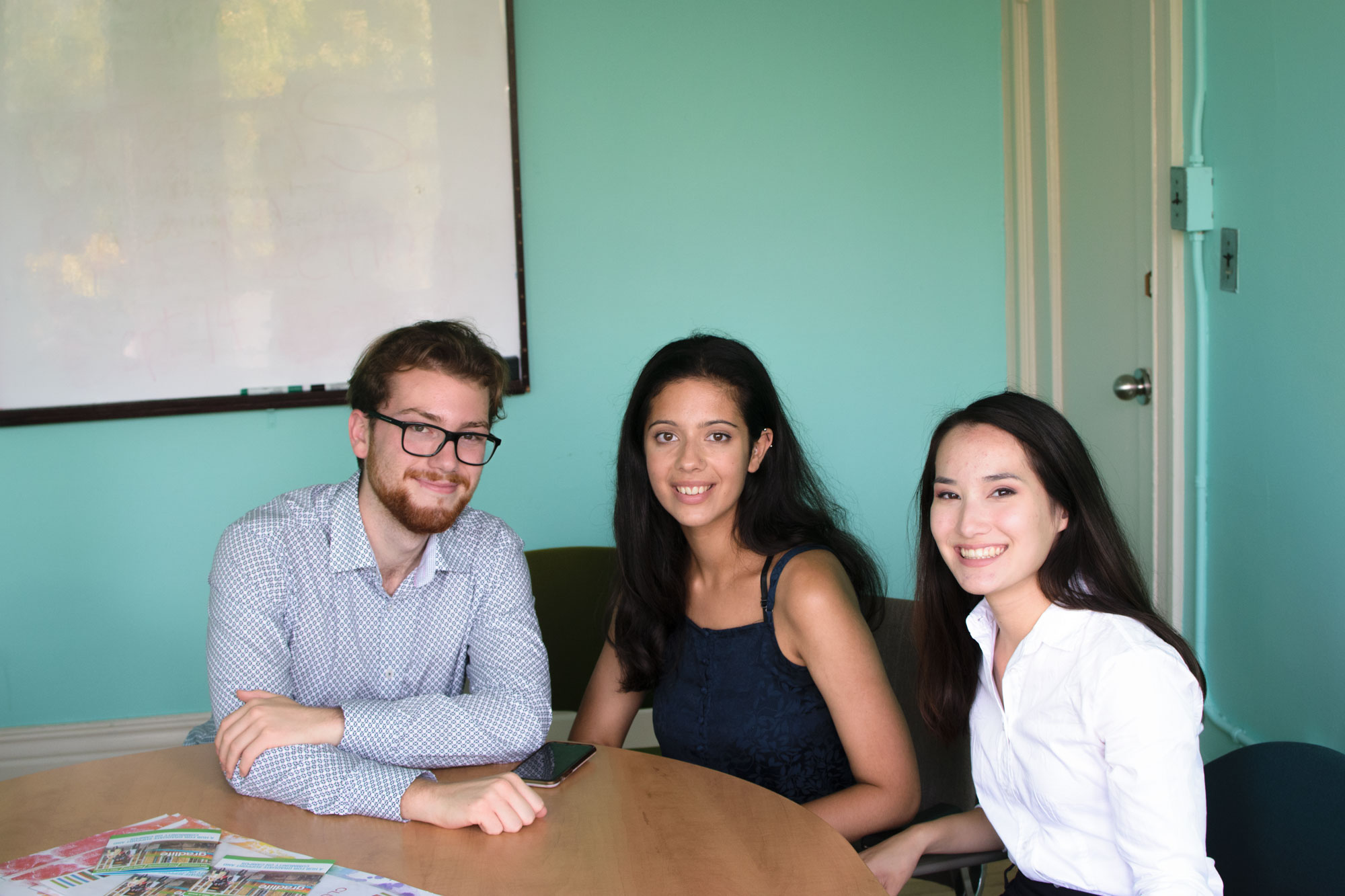 The three initial executive members of CanPol (from left to right: David de Paiva, Talia Holy, Kate Schneider).