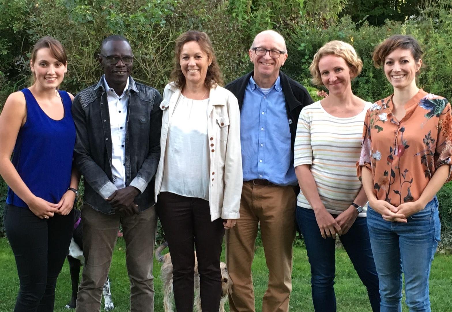 v.l.n.r.: Anja Rudin, Mbaye Sène, Rosita Rudin, Dieter Winistoerfer, Maria Vogel, Alina Spörri. Bild: Rosita Rudin