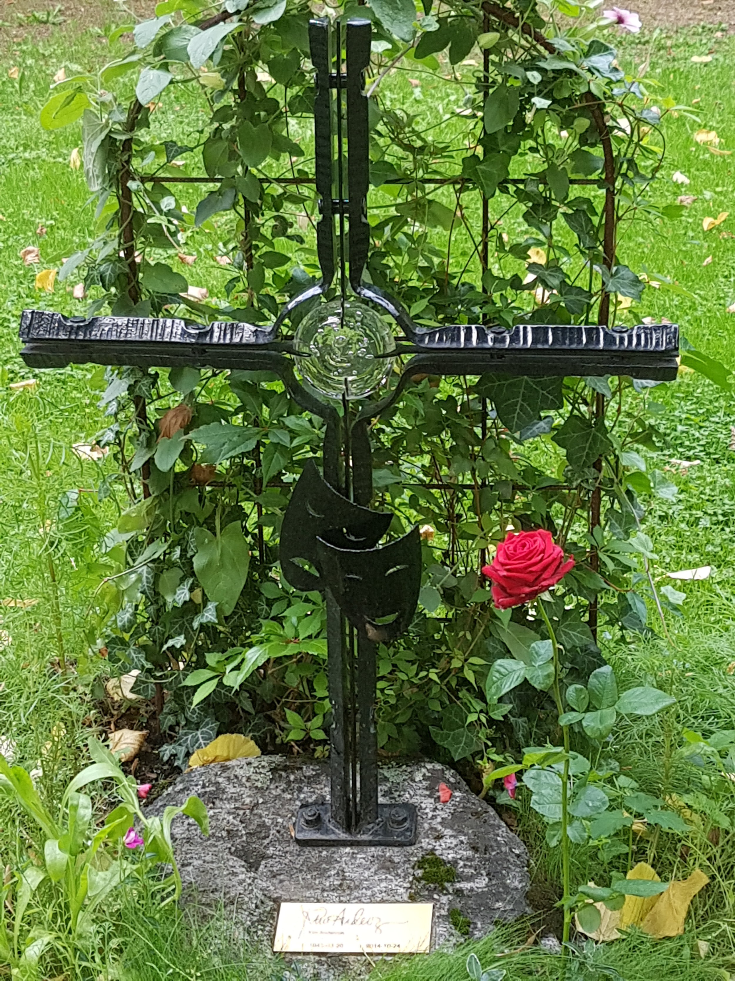Kim Anderzons gravvård. Katarina kyrka