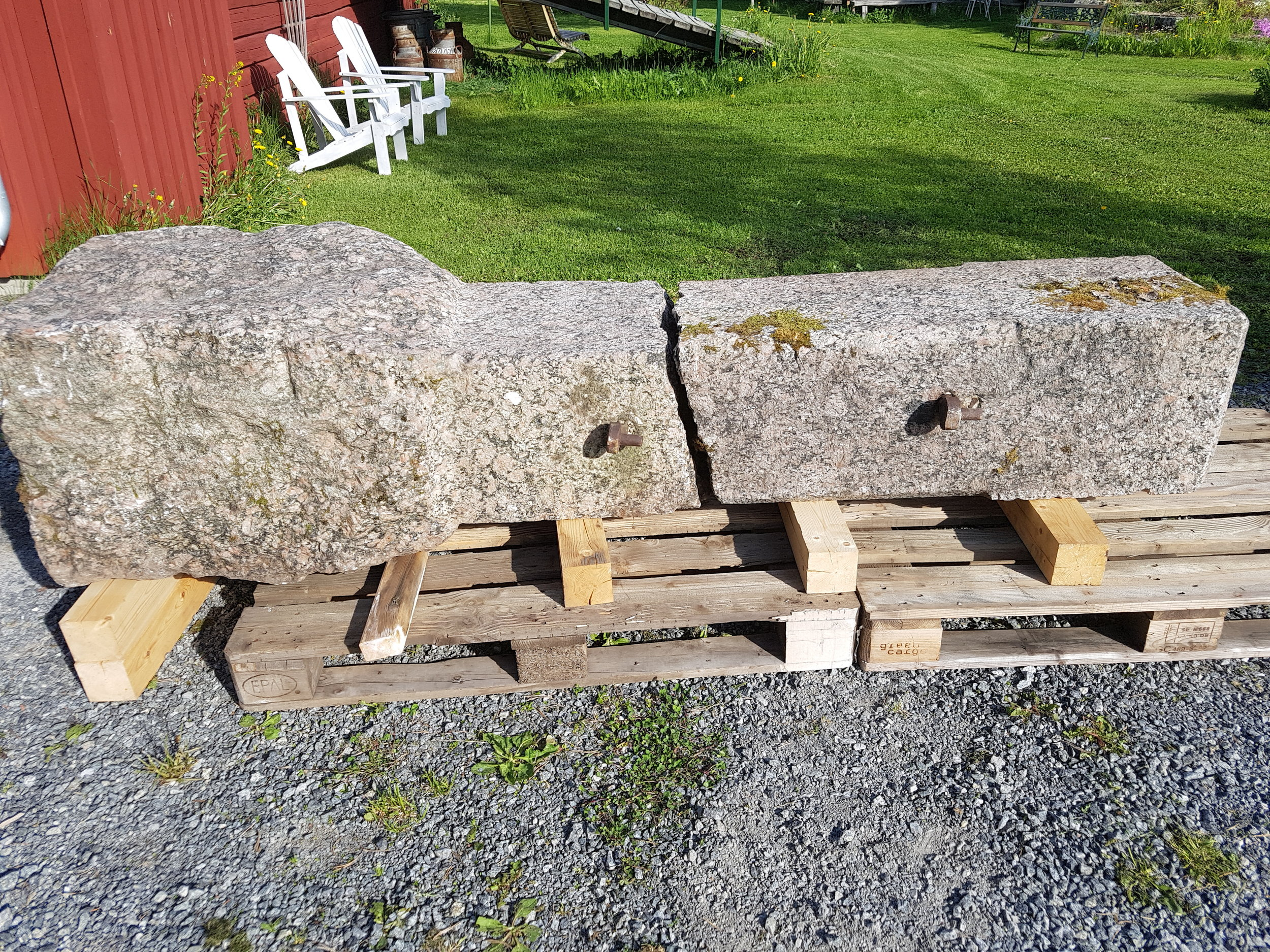 Reparation av grindstolpe
