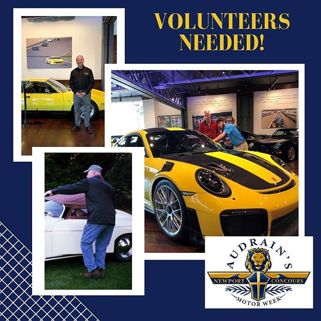 We are looking for volunteers for the inaugural event this October! If you're interested or would like to learn more about volunteering, visit our website or email Ben at, ben@audrainconcours.com. #audrainconcours2019 #newportri #volunteer #event #cars #concoursdelegance #automotive #nonprofit