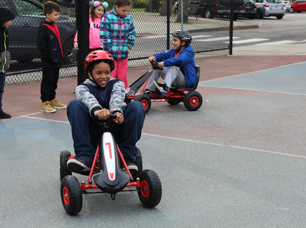 Testing out our pedal cars with the great kids from the Dr. Martin Luther King, Jr. Community Center in Newport, RI.
